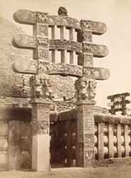 Western gate of the Sanchi Tope (lately restored)